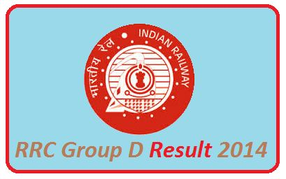 RRC Group D result 2014 of November exam